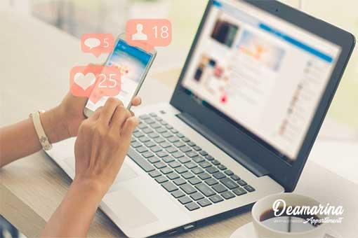 Seguici sui Social!, Appartamenti Deamarina Marina di Massa